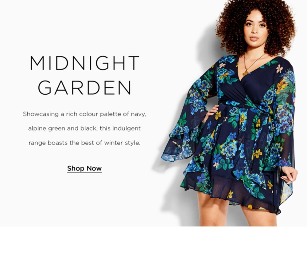 Shop City Chic Midnight Garden New Collection