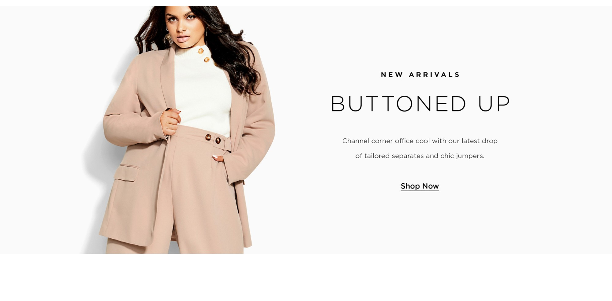 Shop City Chic Buttoned Up New Collection