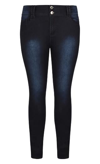 Asha Short Skinny Jean - denim