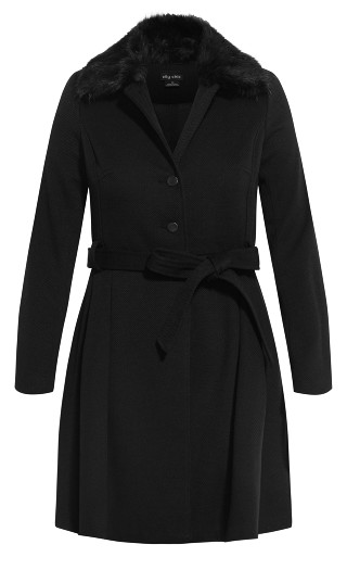 Blushing Belle Coat - black