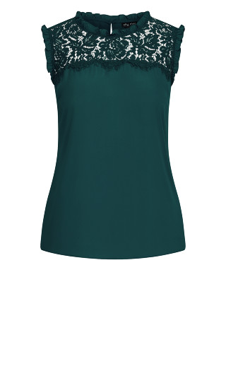 Lace Angel Top - emerald