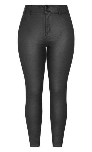 Skylar Short Coated Skinny Jean