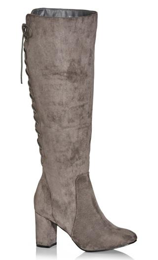 Perry Knee Boot - steel