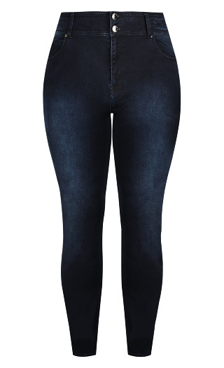 Harley Short Skinny Jean - Dark Denim