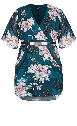 Jade Blossom Dress - jade