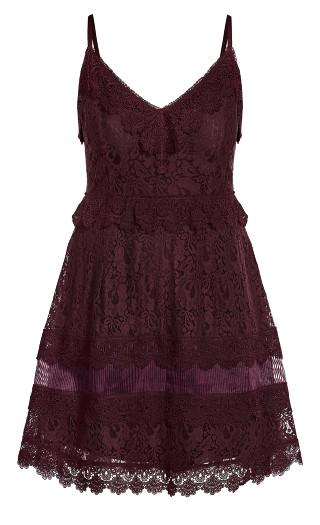 Nouveau Lace Dress - plum