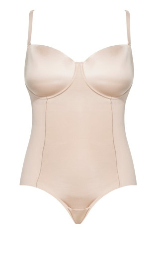 Smooth & Chic Contour Bodysuit - latte