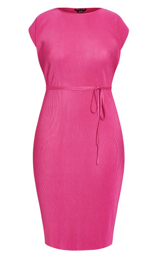 Baby Pleat Dress - magenta