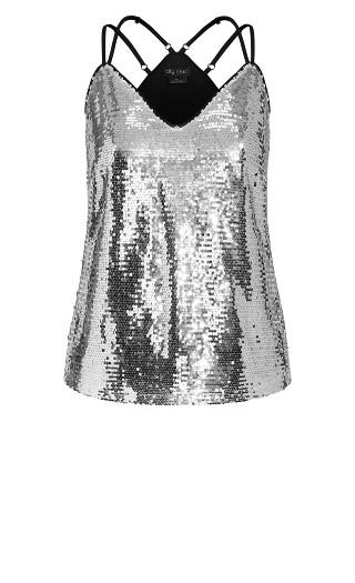 Glimmer Top - silver