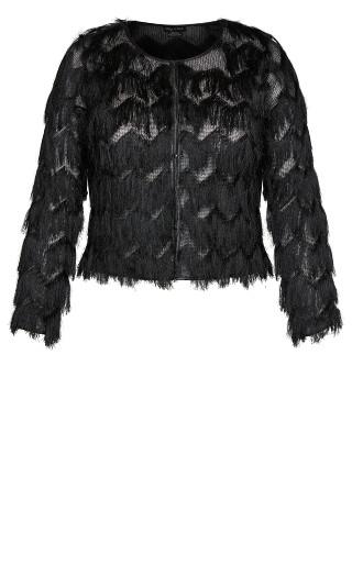 Fringe Fever Jacket- black