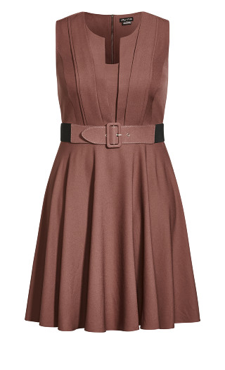 Vintage Veronica Dress - amaretto