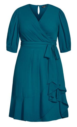 Captivate Dress - teal