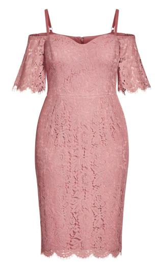 Lace Whisper Dress - deep blush