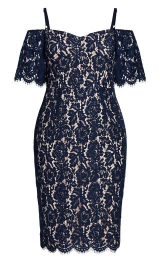 Lace Whisper Dress - navy