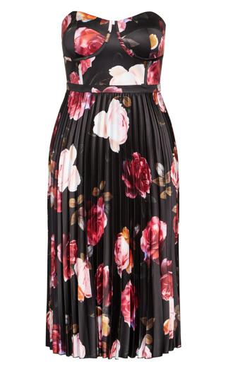 Rich Bloom Dress - black