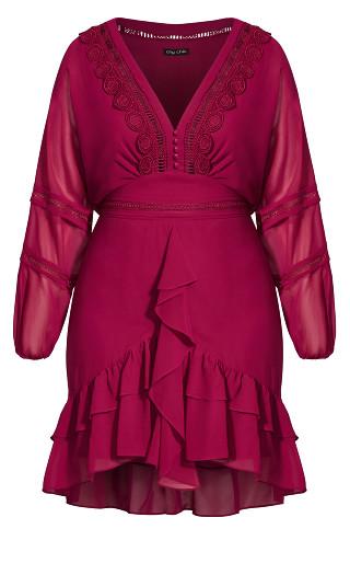 Sweetheart Dress - fuchsia