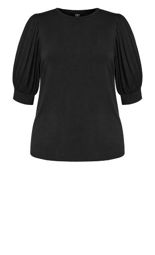 Sweet Sleeve Top - black