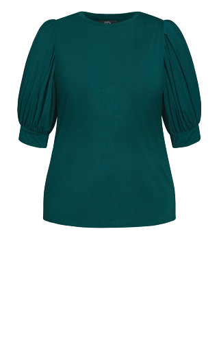 Sweet Sleeve Top - emerald