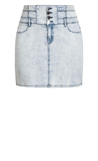 Retro Mini Skirt - light wash