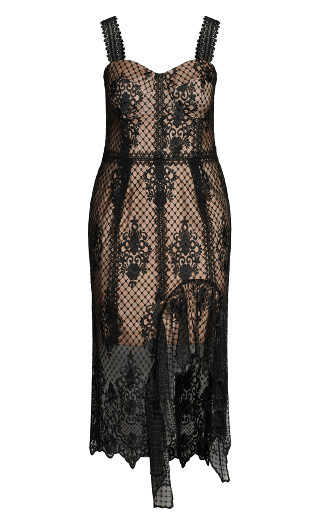 Glamorous Lace Dress - black