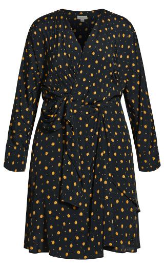 Twist Front Dress - black