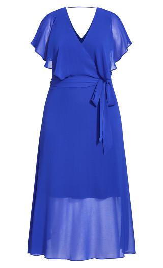 Softly Tied Dress - lapis