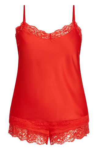 Slinky Cami Set - burnt coral