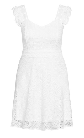 Dainty Lace Dress - ivory