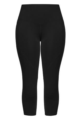 3/4 Scrunch Bum Legging - black