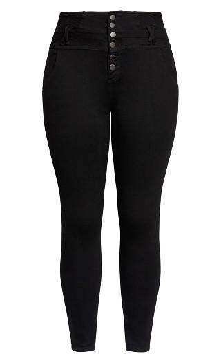 Harley Short Western Corset Jean - black