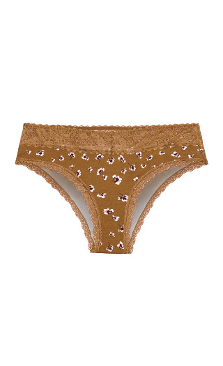 Cotton Print Cheeky Brief - ginger