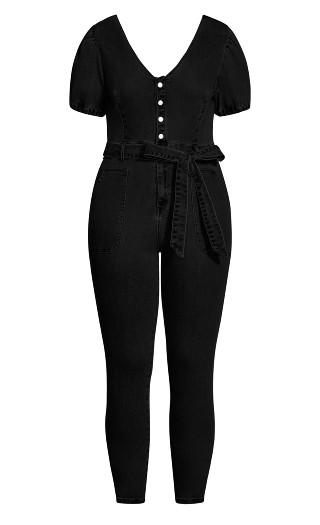 Sweet Puff Jumpsuit - black