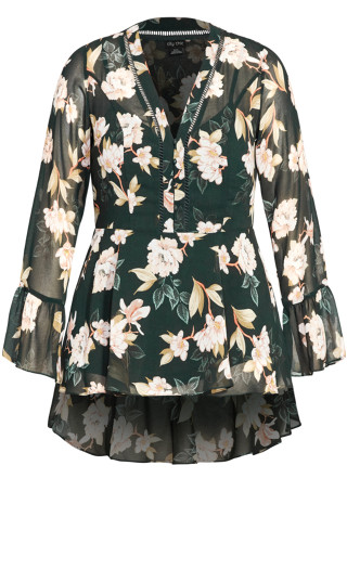 Sweet Magnolia Top -  forest