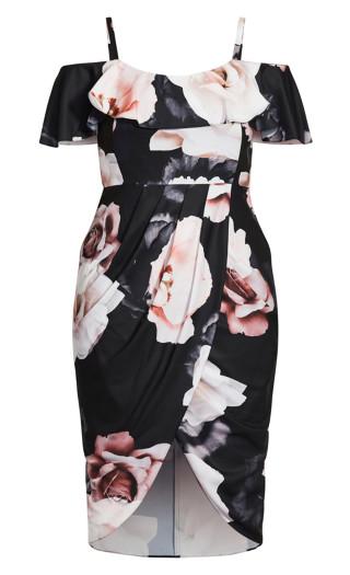 Austin Floral Dress - black