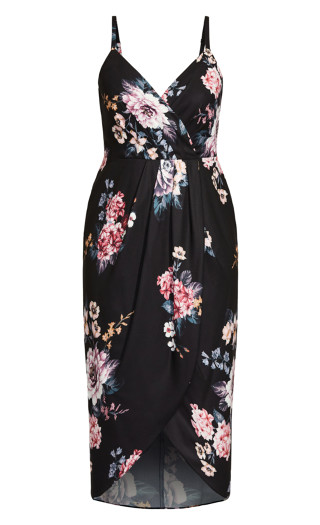 Blooms Dress - black