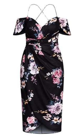 Love Blooms Maxi Dress - black