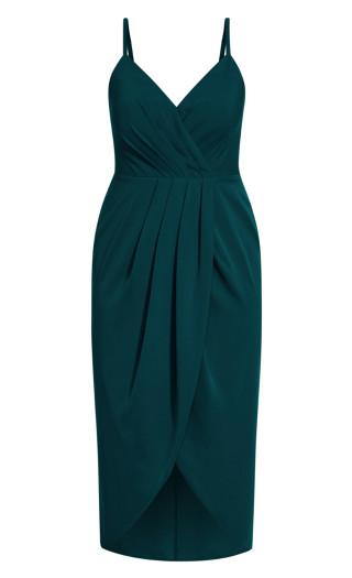 Tulip Flutter Dress - emerald