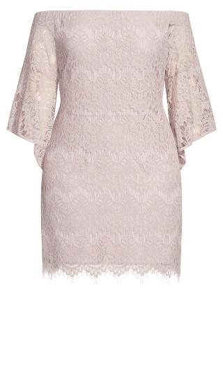 Bella Lace Dress - blush