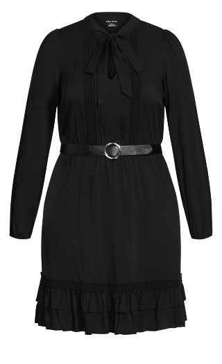 Precious Tie Dress - black