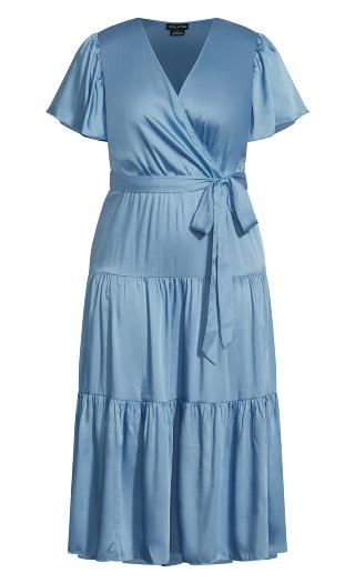 Tiered Sweetness Maxi Dress - blue
