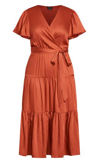 Tiered Sweetness Maxi Dress - paprika