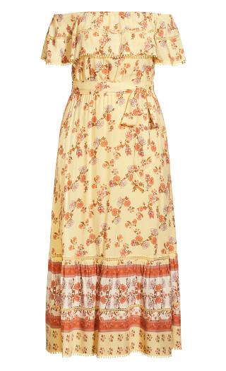 Tiered Aura Maxi Dress - buttercup