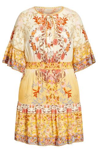 Karma Trim Dress - buttercup