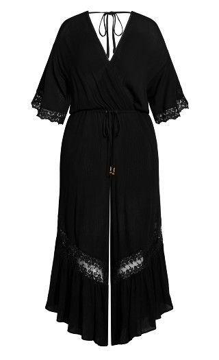Embroidered Willow Jumpsuit - black