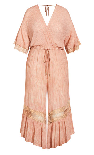 Embroidered Willow Jumpsuit - rose pearl