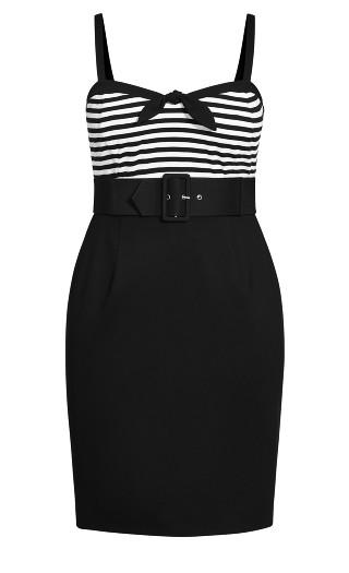 Hello Sailor Dress - black