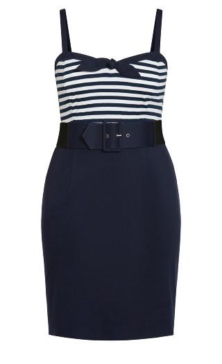 Hello Sailor Dress - navy