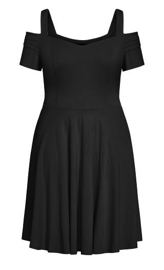 Retro Vibe Dress - black