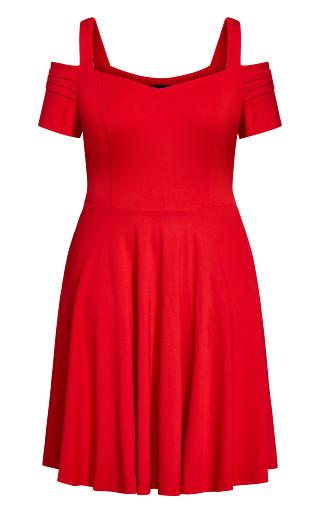 Retro Vibe Dress - cherry