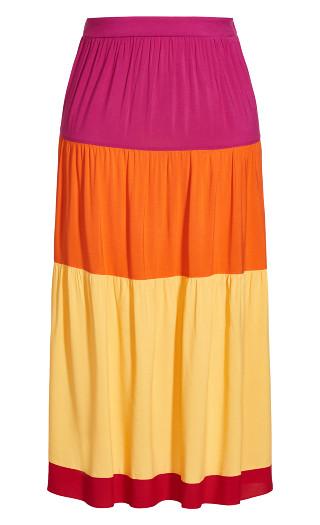 Colourburst Skirt - fuchsia